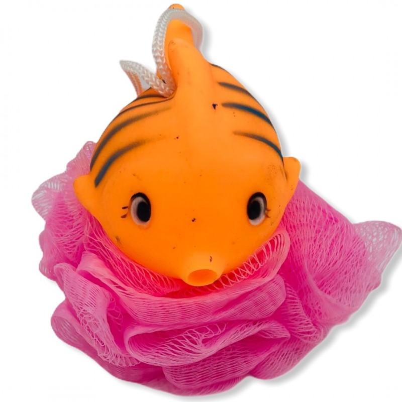 fleur-de-bain-eponge-douche-filet-animaux-plastique